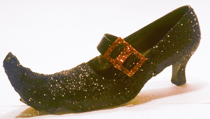 Glittered Pointy Toe Witch Shoes